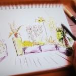 aménager un patio extérieur exotique parisien